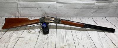 45LC 1873 ENGRAVED SHORT RIFLE DELUXE