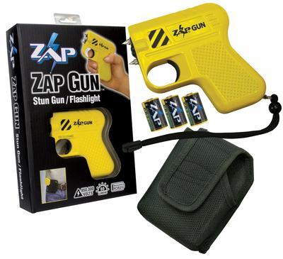 ZAP GUN STUN GUN PORTABLE CLOSE CONTACT YELLOW