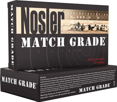 22 NOSLER MATCH GRADE 85GR RDF