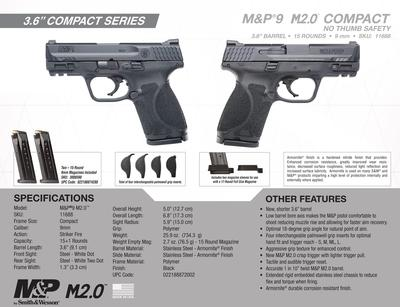 9MM MP9 2.0 COMPACT 15RND NO SAFE