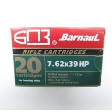 7.62X39 BARNAUL 123GR HP 20RNDS