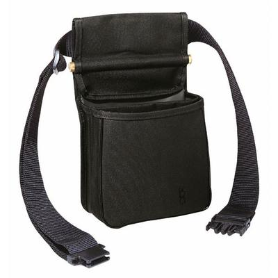 DIVIDED SHOOTING POUCH W/BELT BLACK