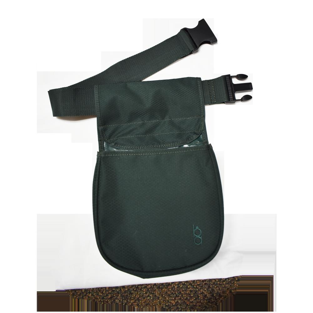 Divided Shooting Pouch W/Belt Green
