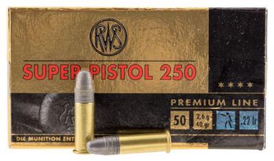 22LR SUPER PISTOL 250 50 ROUNDS