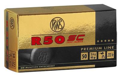 22LR R50 SHORT CASE 50 ROUNDS