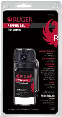 BELT CLIP PEPPER SPRAY POCKET 1.8 OZ 18 FEET BLK/RED