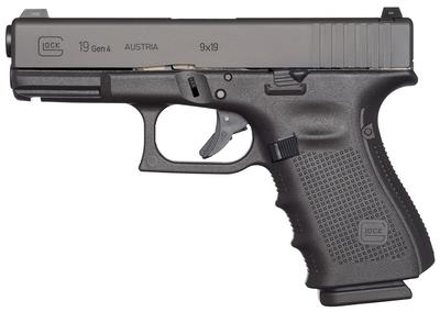 9MM G19 GEN4 M.O.S. BLACK 10 RND MAGS