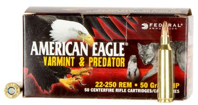 22-250 REM AM-EAGLE 50GR JHP