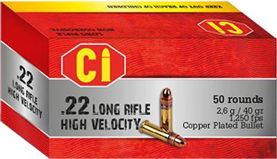 22LR HIGH VELOCITY 40GR LEAD ROUND NOSE
