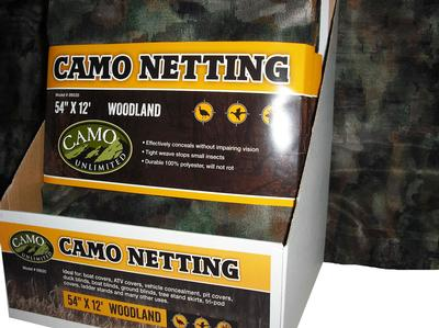 CAMO 9520 POLY NETTING WOODLAND 54X144