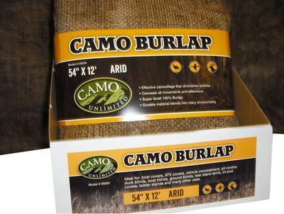 CAMO 9550 BURLAP ARID   54X144
