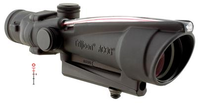 3.5X35 ACOG AR15/M16 223 BAC RED