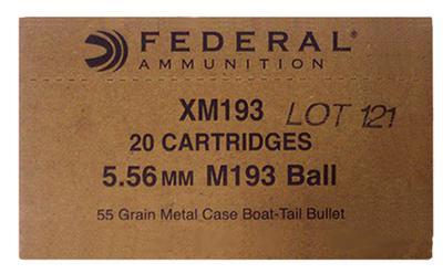 5.56MM XM193 55GR FMJ 1000CNT BULK