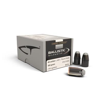 45CAL BALLISTIC SILVERTIP 300GR .458