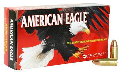 9MM AMERICAN EAGLE 124GR FMJ