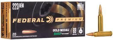 223REM GOLD MEDAL 69GR SIERRA MATCHKING
