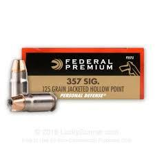 357SIG PERSONAL DEFENSE 125GR JHP
