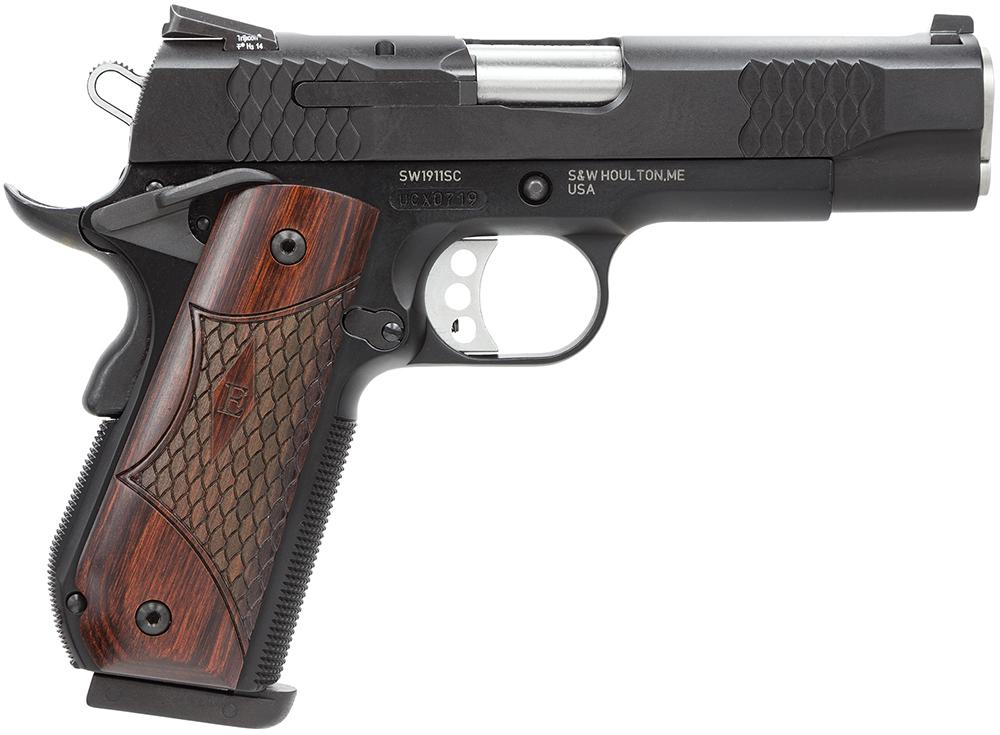 Garys Gun Shop   SMITH & WESSON 45ACP M-1911 E SERIES 4 25` BBL SCANDIUM