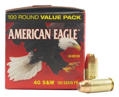 40SW AMERICAN EAGLE 180GR FMJ 100CNT