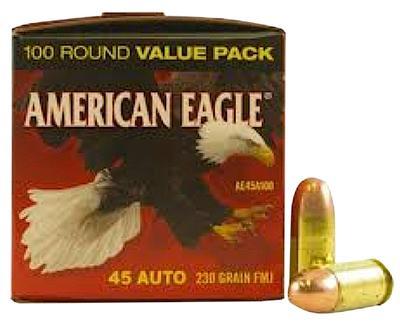 45ACP AMERICAN EAGLE 230GR FMJ 100CNT