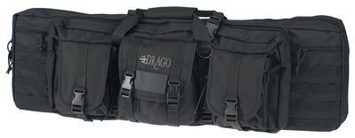 DOUBLE GUN CASE 37` X 14` X 12.5` EXTERIOR 600D POLYESTER BLACK