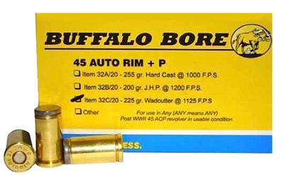 45 AUTO RIMMED +P 225GR WADCUTTER