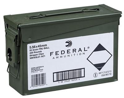 5.56MM X193 AMMO CAN 55GR FMJ 420RNDS
