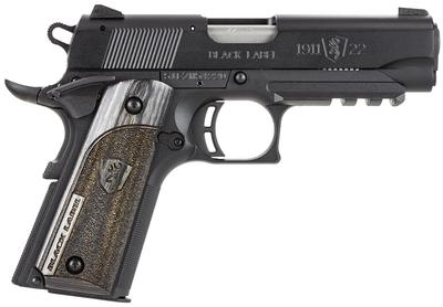 22LR 1911-22 BLK LABEL W/RAIL 3.625`