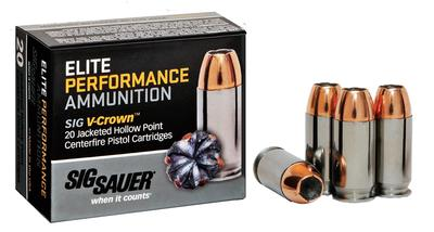 357SIG ELITE PERFORMANCE V-CROWN 125 GR