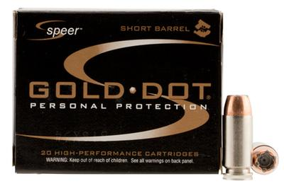 40SW GOLD DOT 180GR SHORT BARREL HP