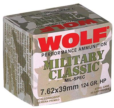 7.62X39MM 124GR HP STEEL CASE