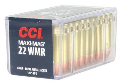 22 WMR MAXI-MAG TMJ 40 GRAIN