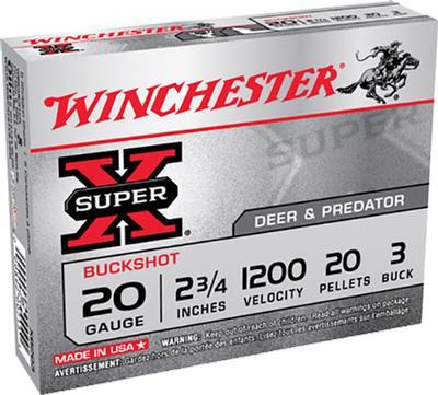 20GA SUPER-X 23/4 #3 BUCK