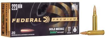 223REM GOLD MEDAL 77GR BTHP