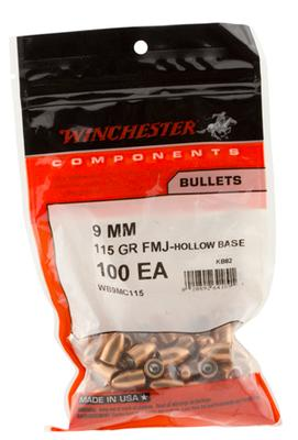 9MM 115GR FMJ HOLLOW BASE