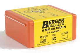 6MM 80 GRAIN FB VARMINT 100CNT