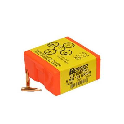 6MM 105 GRAIN VLD HUNTING 100CNT