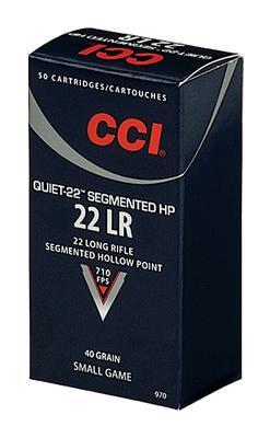 22LR QUIET-22 SEGMENTED HP 50 ROUNDS