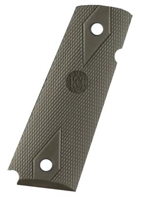 1911 GOV`T GRIP PANELS RUBBER OD GREEN
