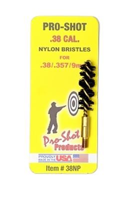 38 CAL NYLON PISTOL BRUSH