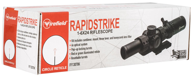 1- 6x 24mm Rapidstrike Riflescope Illuminated
