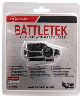 BATTLETEK LASER/FLASHLIGHT LED 150 LUMENS CR-2 BATT GREEN