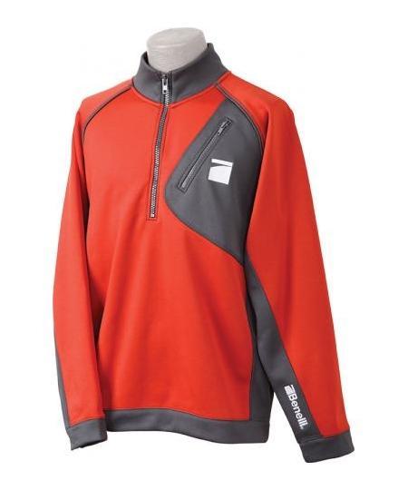 Pullover Orange/Gray Large
