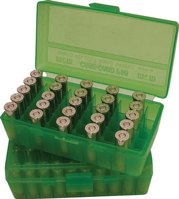 45ACP 50 RND FLIPTOP AMMO BOX GREEN