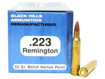 223 REM 52 GRAIN HOLLOW POINT