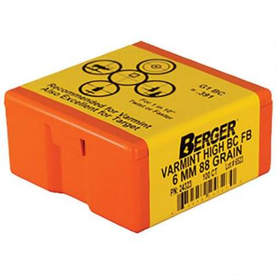 6MM 88 GRAIN HIGH BC VARMINT 100CNT