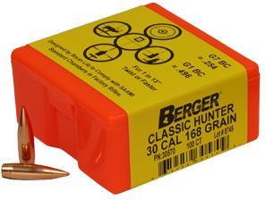 30CAL 168 GRAIN CLASSIC HUNTER 100CNT