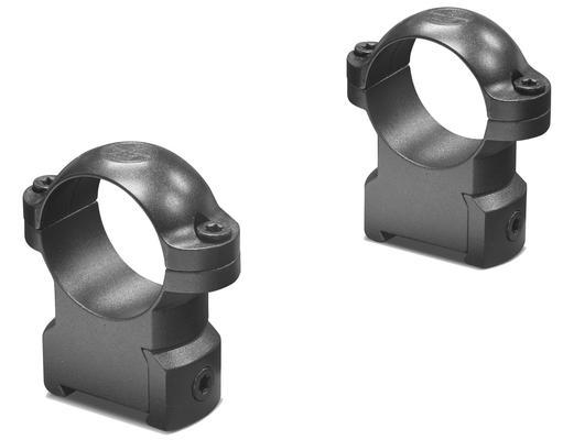 RINGMOUNT RINGS 2 PIECE 1` MEDIUM MATTE BLACK CZ 550