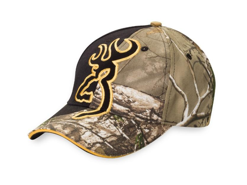 Big Buckmark Camo/Black Hat