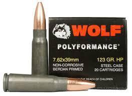 7.62X39 POLYFORMANCE 123GR HP